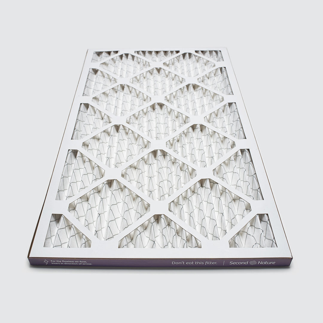 12x20x1 air filter 45 angle view