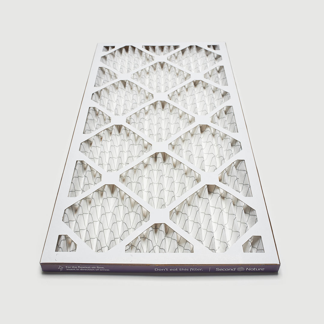 14x25x1 air filter 45 angle view
