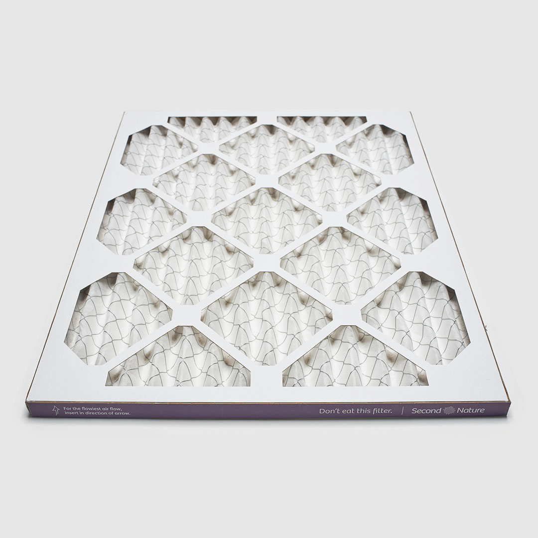 16x20x1 air filter 45 degree angle view