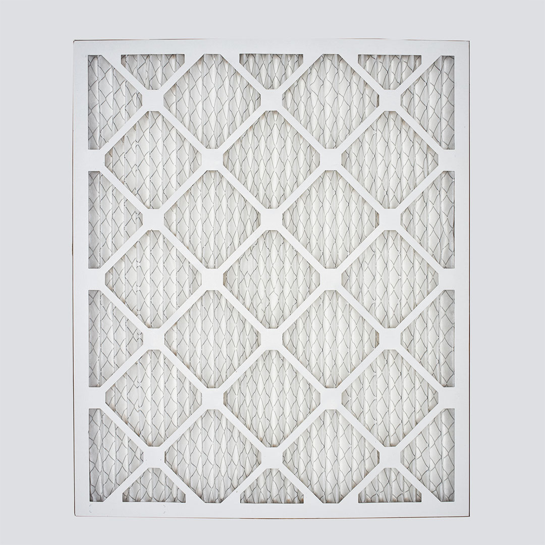 16x20x1 air filter top view