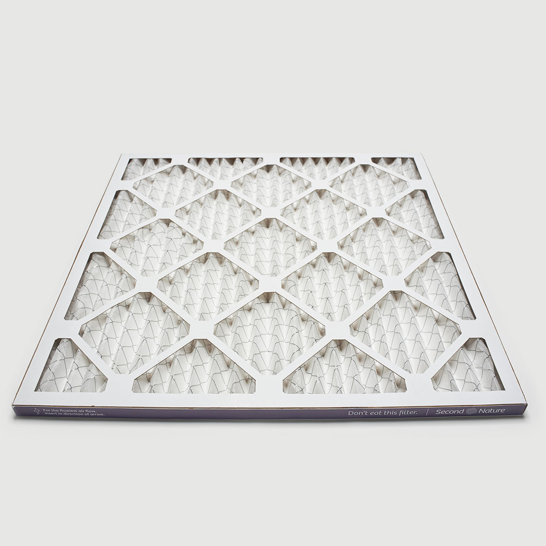 18x18x1 air filter 45 angle view