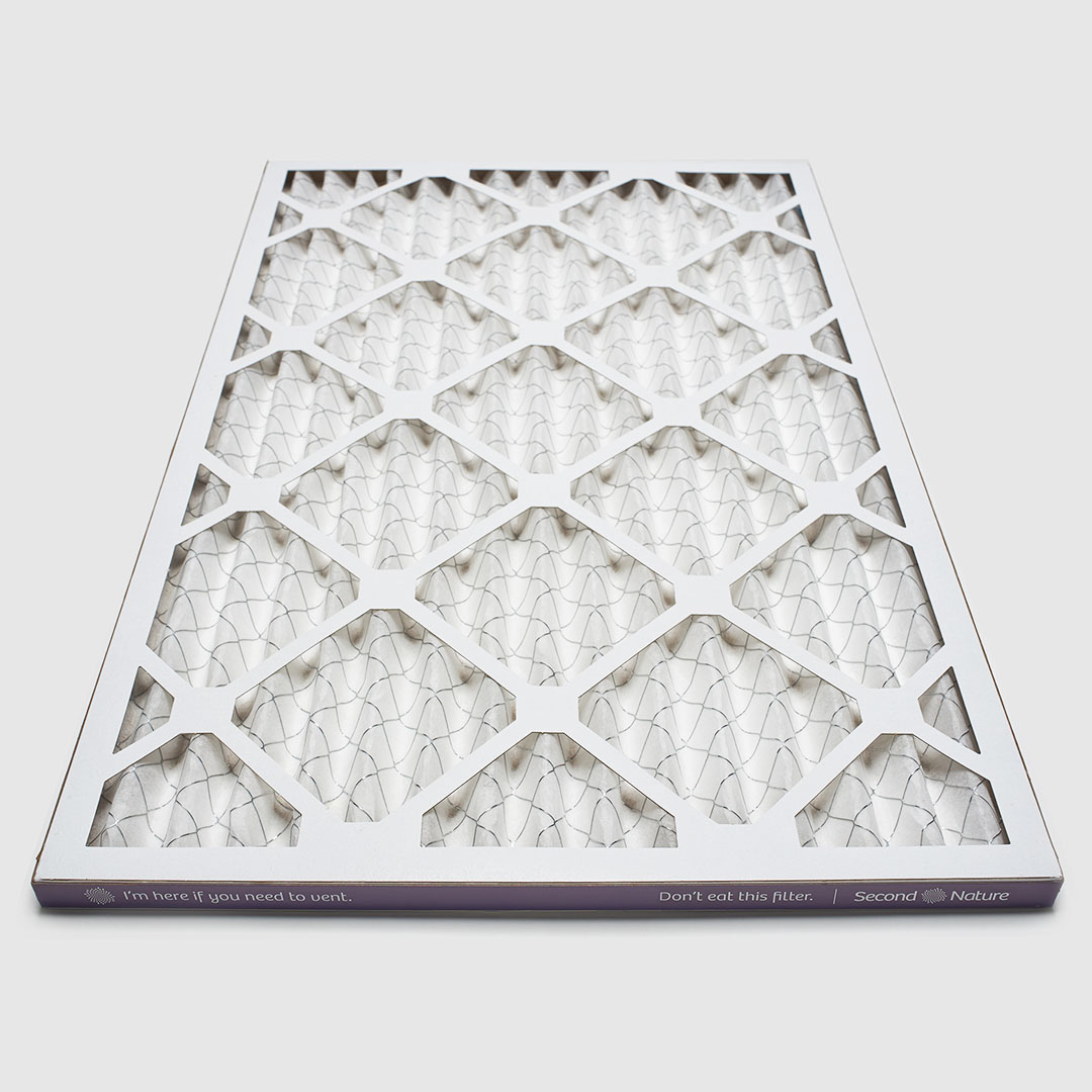 18x24x1 air filter 45 angle view