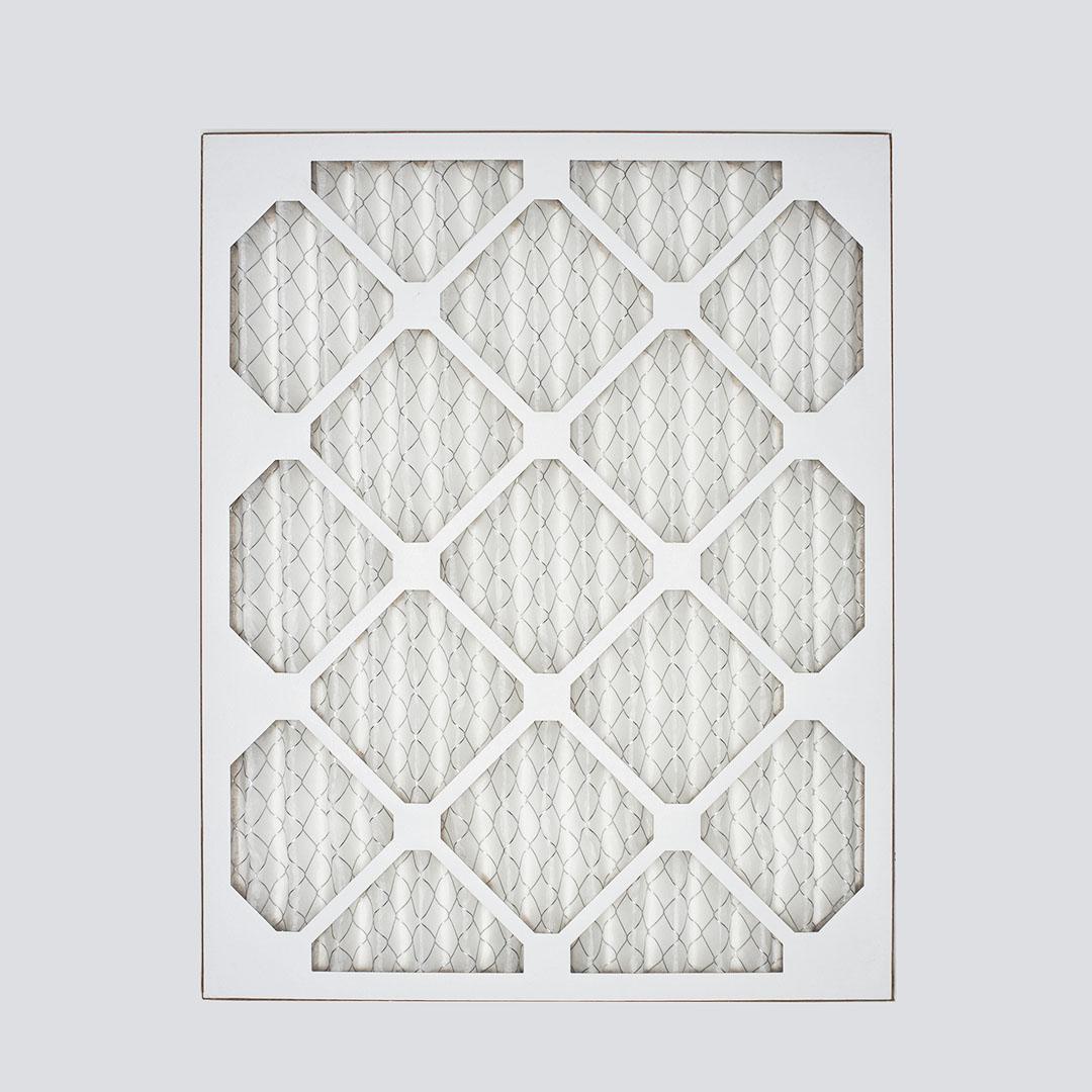 18x24x1 air filter top view