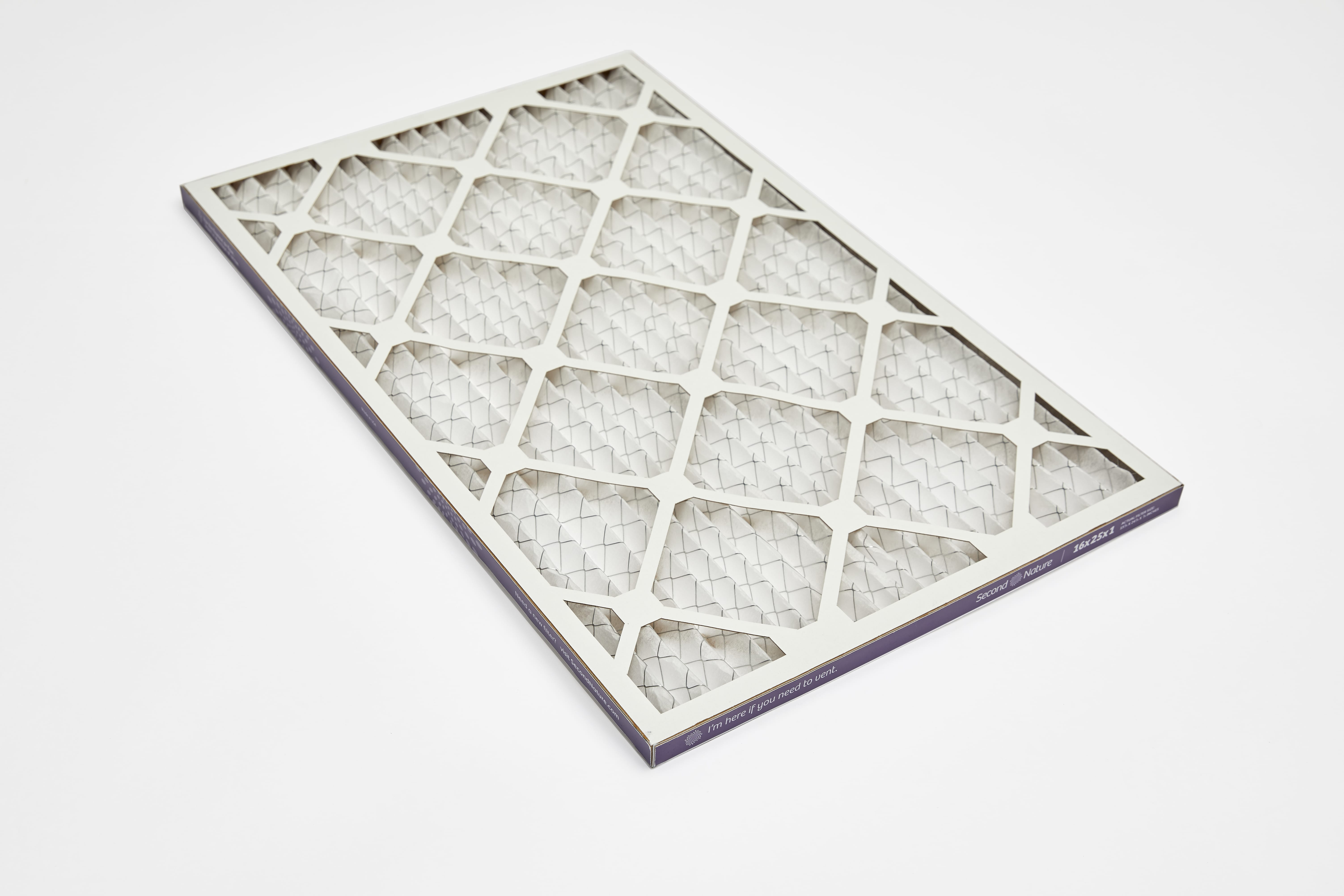 rectangle 16x20x1 home air filter 45º angle