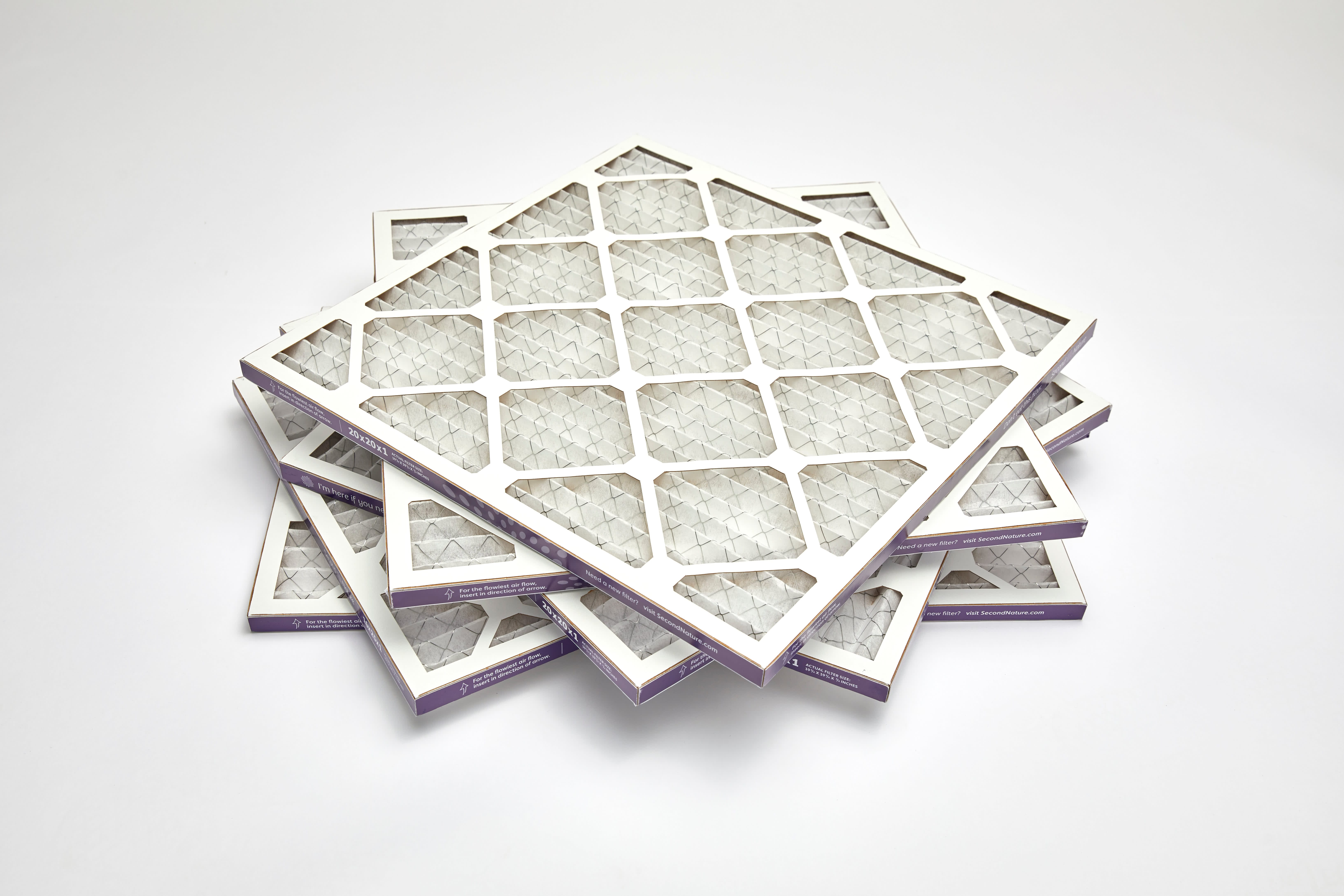 stack of second nature air filters