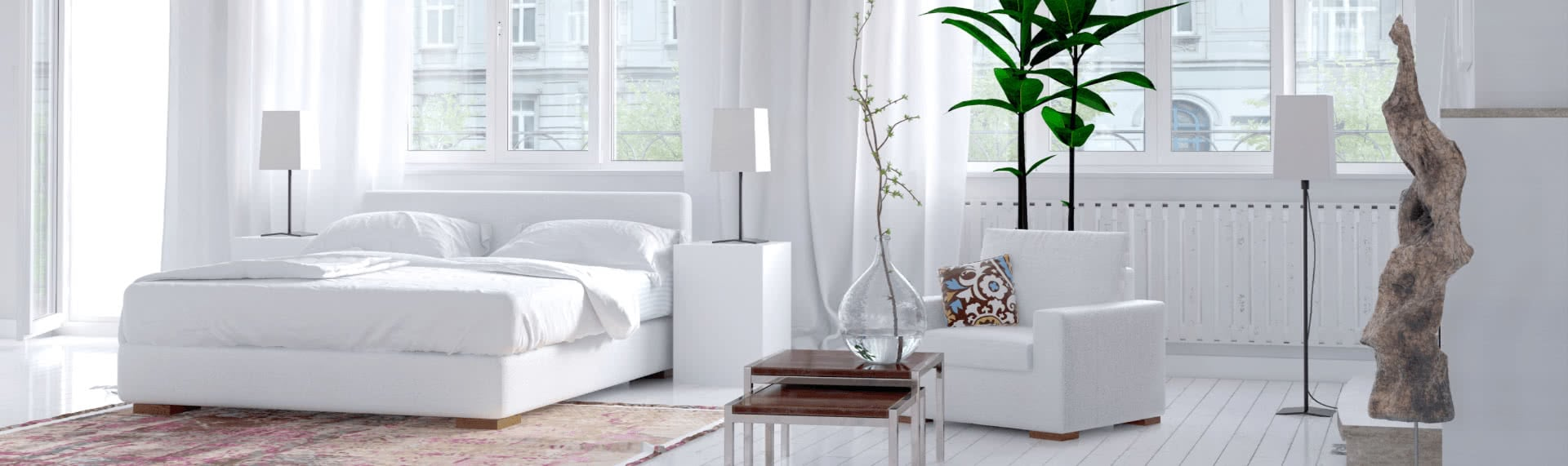 white clean apartment