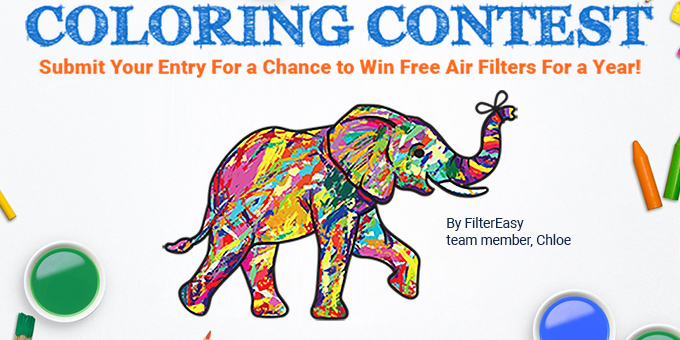 Color our Effie for a free year of air filters