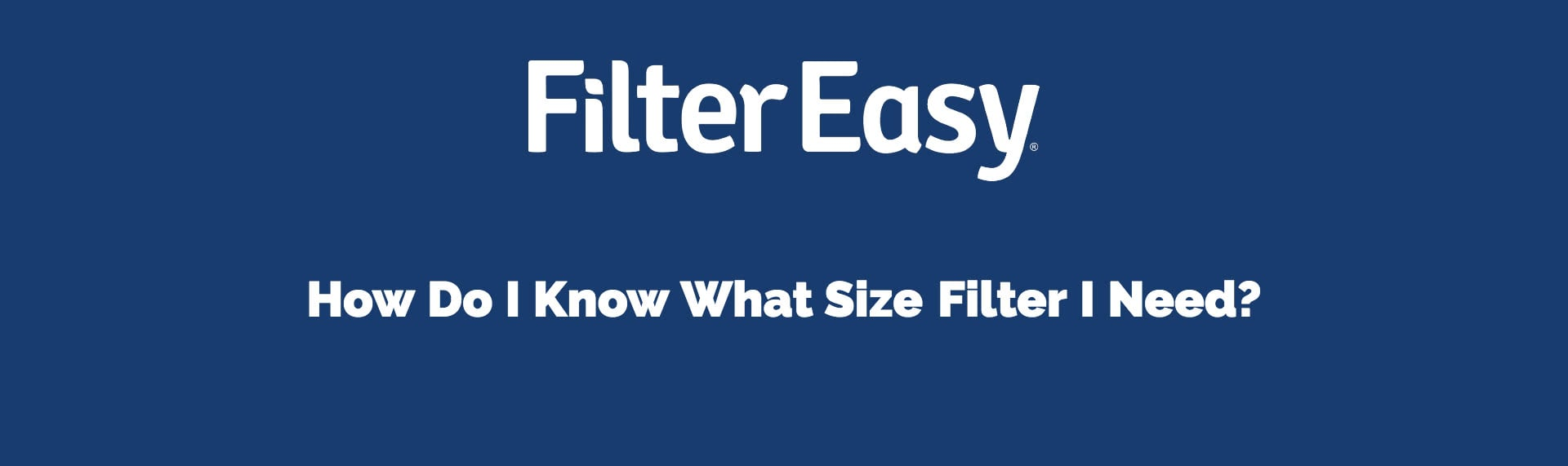 finding air filter size