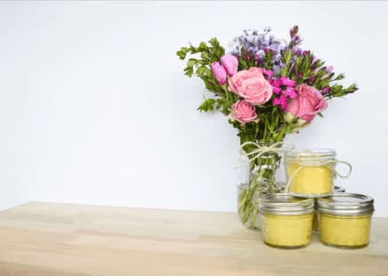 Beeswax candles have a nice look to them as well
