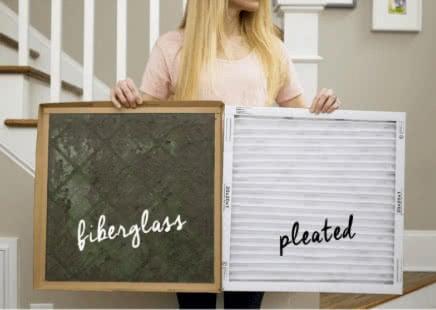 Fiberglass versus Pleated Air Filters