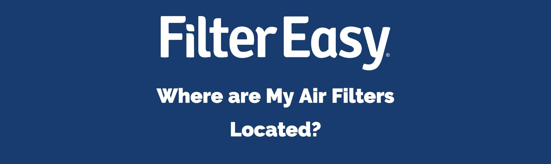 location of air filters