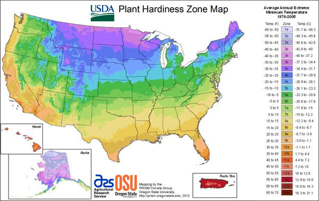 plant hardiness map to help you garden